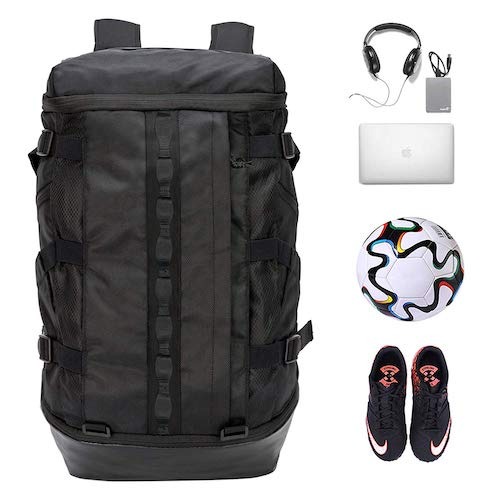 5. TrailKicker Basketball Backpack with Ball Compartment, 26L Gym Laptop Backpack, Soccer Backpack