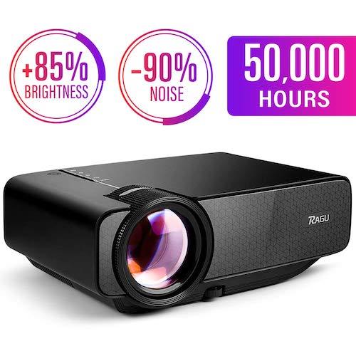 8.RAGU Z400 Mini Projector, 2019 Upgraded Full HD 1080P 180