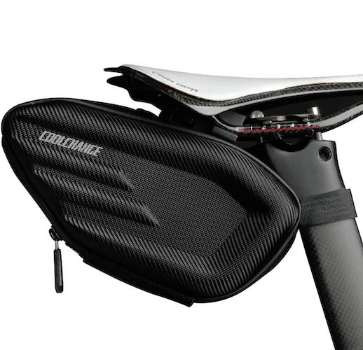 9. Cool Change Bike Wedge Saddle Bag, 3D Shell Waterproof Mountain Road Bicycle Under Seat Pack, Large Storage Pouch