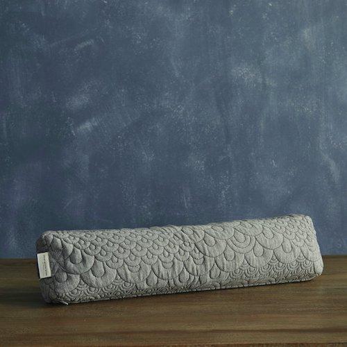 9.Brentwood Home Crystal Cove Pranayama Yoga Pillow, Buckwheat Fill Restorative Breathing Pillow, Made in California