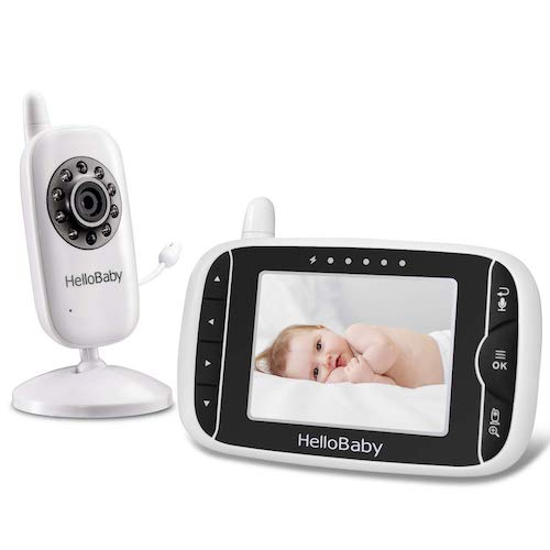 6.HelloBaby HB32 Wireless Video Baby Monitor 3.2Inch LCD Display 960feet with Two-Way Talk System