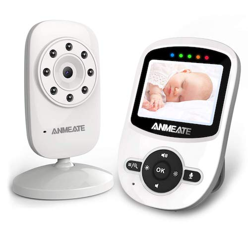 5. Video Baby Monitor with Digital Camera, ANMEATE Digital 2.4Ghz Wireless Video Monitor with Temperature Monitor