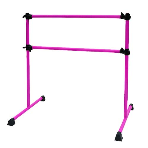 8. PreGymnastic 4 Ft Adjustable & Portable Double Freestanding Ballet Barre for Dancing Stretching, Bonus Shining Sticker for Free