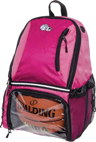 3. LISH Basketball Backpack - Large School Sports Bag w/Ball Compartment