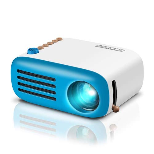 3.Mini Projector, GooDee LED Pico Projector, Pocket Video Projector Support HDMI Smartphone PC Laptop USB for Movie Games