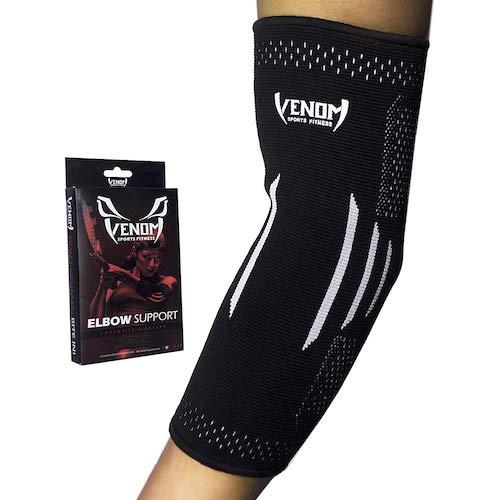 2.Venom Elbow Brace Compression Sleeve - Elastic Support, Tendonitis Pain, Tennis Elbow, Golfer's Elbow, Arthritis, Bursitis, Basketball, Baseball, Football, Golf, Lifting