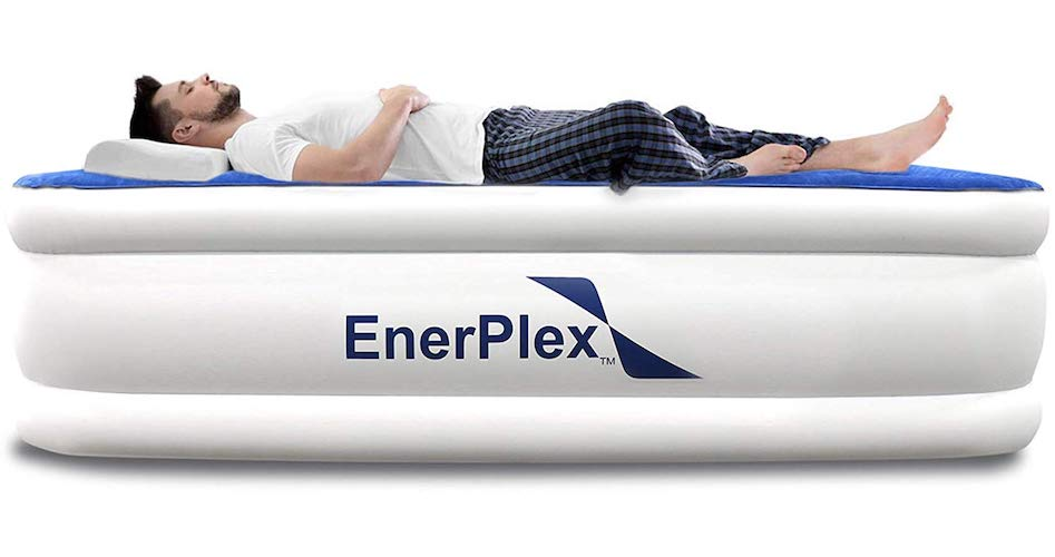 8.EnerPlex Never Leak Luxury Queen or Twin Size Air Mattress Airbed with Built in Pump or Wireless Pump