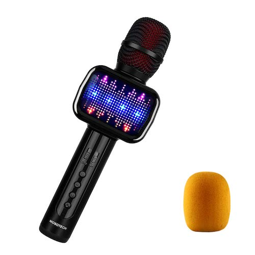 5. MOSOTECH 2019 Updated Bluetooth Karaoke Microphone, Speaker, Player, Recorder, Voice Changer