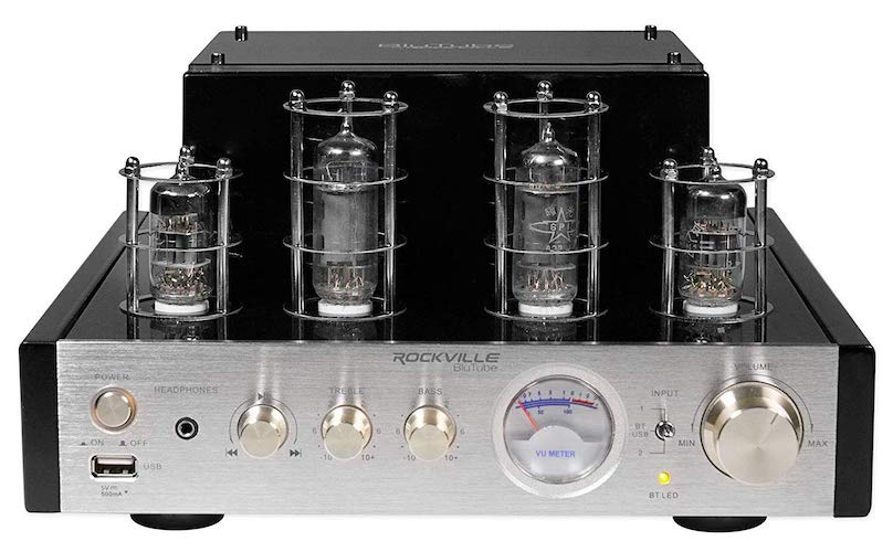 5. Rockville BluTube 70W Tube Amplifier/Home Theater Stereo Receiver with Bluetooth