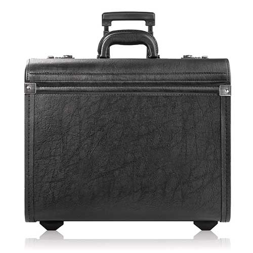 7. Solo Lincoln Rolling Catalog Case, with Dual Combination Locks, Black