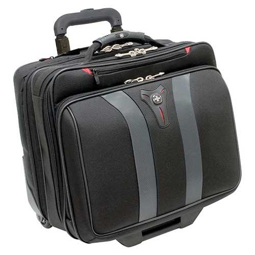 6. Swissgear Granada Rolling Case Nylon for Upto 17-Inch Notebooks – Black