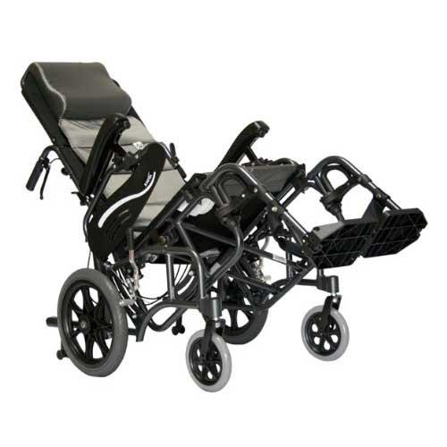 2. Karman Healthcare VIP515TP-18-E Foldable Tilt in Space, Diamond Black, 14 Inches Rear Wheels