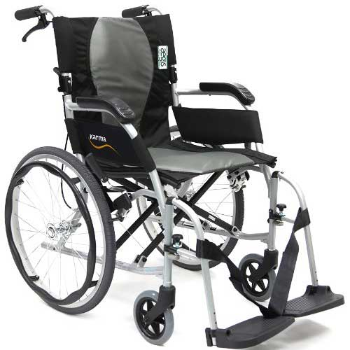 4. Karman Ergonomic Wheelchair Ergo Flight with Quick Release Axles in 18 inch Seat, Pearl