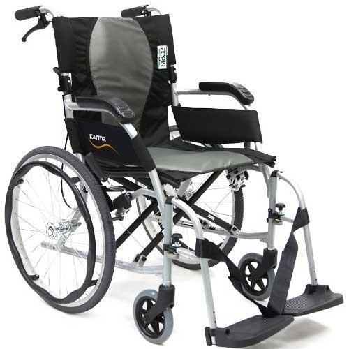 4. Karman Ergonomic Wheelchair Ergo Flight with Quick Release Axles in 18 inch Seat, Pearl