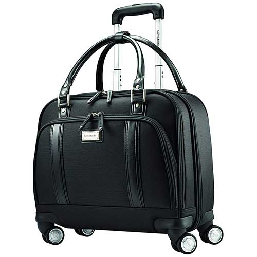 2. Samsonite Luggage Women's Spinner Mobile Office, Black, One Size
