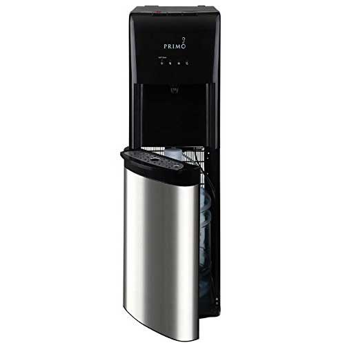8. Primo Stainless Steel 1 Spout Self-Sanitizing Bottom Load Hot, Cold and Cool Water Cooler Dispenser