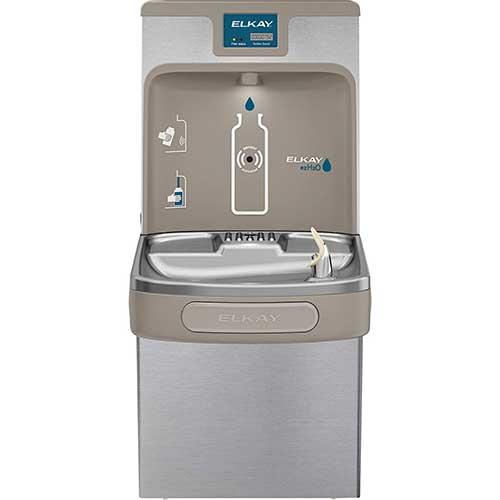 1. Elkay LZS8WSSP Enhanced EZH2O Bottle Filling Station & Single ADA Cooler, Filtered 8 GPH Stainless