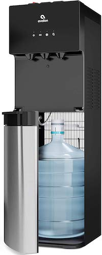10. Avalon A4BLWTRCLR water dispenser, 3 or 5 gallon bottle, Stainless Steel & Black