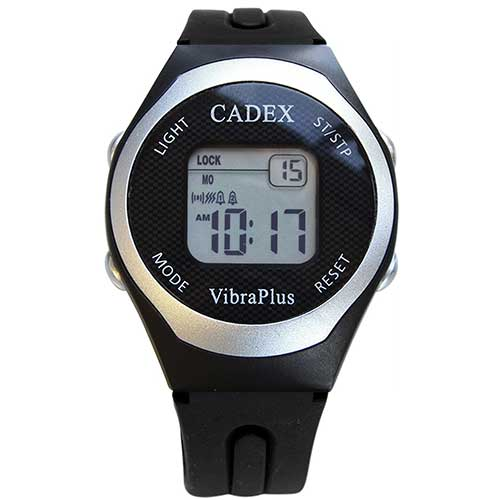 4. e-Pill | CADEX VibraPlus Sport, Up to 8 Vibrating and/or Sound Alarms, Rubber Sport Band