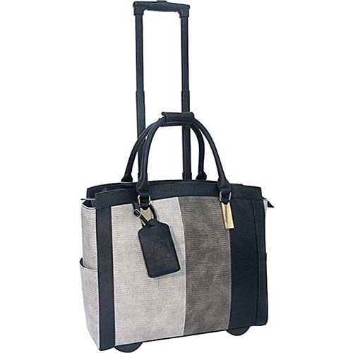 10. Cabrelli Laila Lizard Rolling Briefcase 717018U