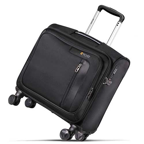5. REYLEO Rolling Briefcase on 8 Wheels Rolling Laptop Bag Rolling