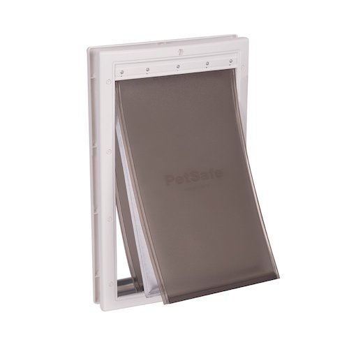4. PetSafe Extreme Weather Energy Efficient Pet Door, Unique 3 Flap System, White, for Dogs and Cats