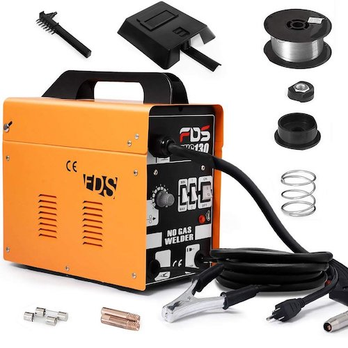 2. Goplus MIG 130 Welder Flux Core Wire Automatic Feed Welding Machine w/Free Mask