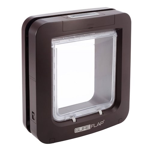 7. SureFlap Microchip Pet Door, Brown