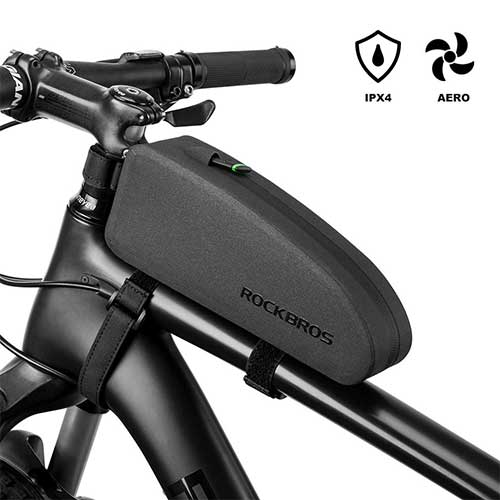 10. RockBros Bikepacking Bag Waterproof Bike Saddle Bag Large Capacity Cycling Rear Seat Pack Black
