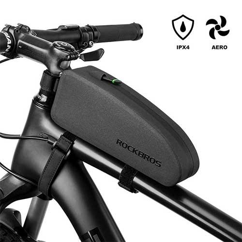10.RockBros Bikepacking Bag Waterproof Bike Saddle Bag Large Capacity Cycling Rear Seat Pack Black