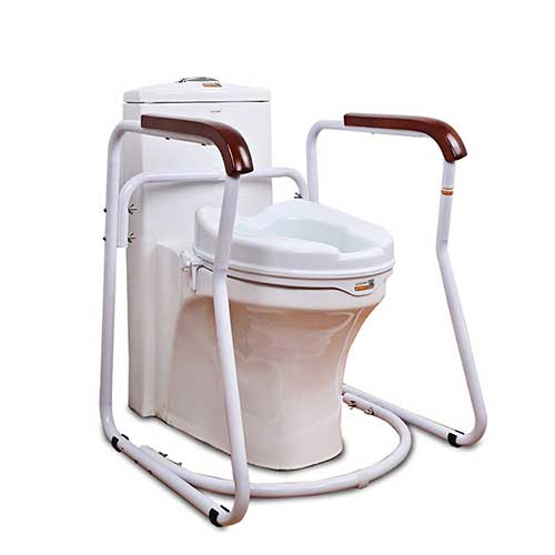 3. HUKOER Bathroom Toilet Safety Frame Rail Safety Frame