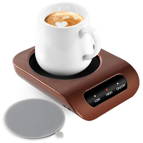 5. Coffee Mug Warmer - Desktop Beverage Warmer - Electric Cup Warmer Tea Water Cocoa Milk for Office Desk and Home Use 110V 35W Best Gift for Coffee Lovers with Automatic Shut Off Function by KUWAN