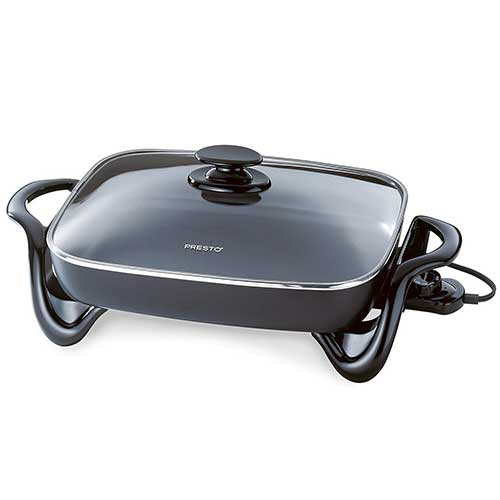 Best Electric Skillets 1. Presto 06852 16-Inch Electric Skillet with Glass Cover