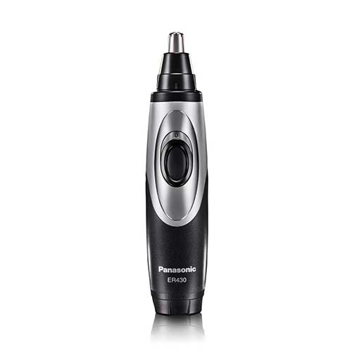 Best Nose Hair Trimmers 5. Panasonic Nose Hair Trimmer and Ear Hair Trimmer ER430K, Vacuum Cleaning System, Men's, Wet/Dry, Battery-Operated
