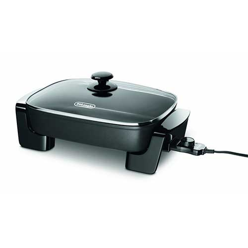 Best Electric Skillets 8. De'Longhi BG45 Electric Skillet with Glass Lid, 16