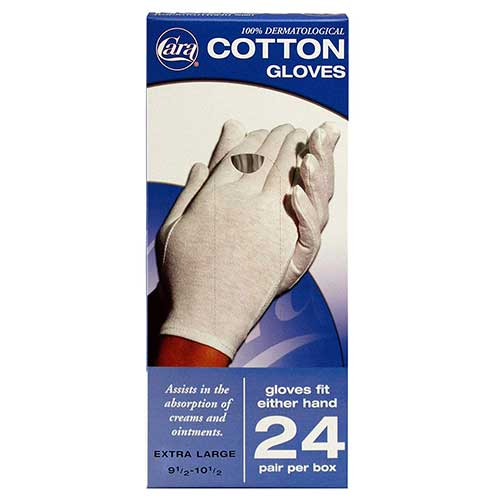 Best Moisturizing Gloves for Dry Hands 2. CARA Moisturizing Eczema Cotton Gloves, Large, 24 Pair
