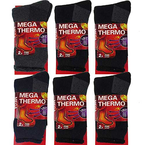 4. DEBRA WEITZNER Mens Thermal Socks – Insulated Heated Socks – Boot Socks for Extreme Temperatures