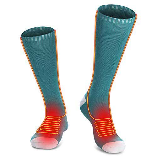 3. GLOBAL VASION Heated Socks, Unisex Cold Weather Electric Heated Socks, for Chronically Cold Feet Skiing, Camping, Hiking