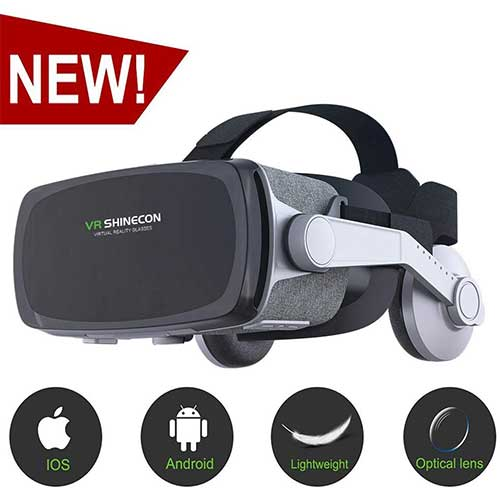 Best Vr Headsets Under $50 9. [New Version] VR Headset, Virtual Reality Headset, VR SHINECON VR Goggles for TV, Movies & Video Games