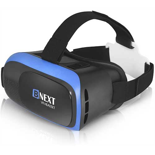 Best Vr Headsets Under $50 1. VR Headset for iPhone & Android Phone - Universal Virtual Reality Goggles Ver2.0-System by BNEXT