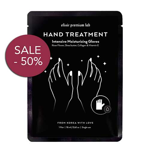 Best Moisturizing Gloves for Dry Hands 8. Moisturizing Gloves Hand Mask - Best Collagen Gloves - Spa Treatment with Shea Butter- by Elixir Premium Lab