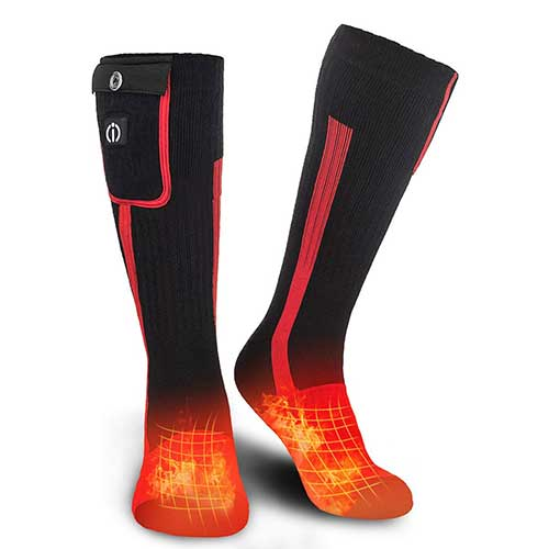 7. Electric Heated Socks, Foot Warmer with Rechargeable Powered Battery, for Men and Women by Sunwill