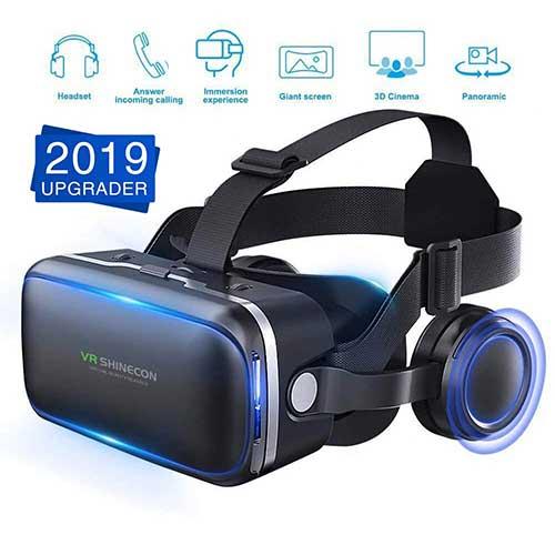 Best Vr Headsets Under $50 8. [2019 New Version] WorldSeng VR Headset, VR Headset with Stereo Headphone, Eye Protected HD Vr Headset