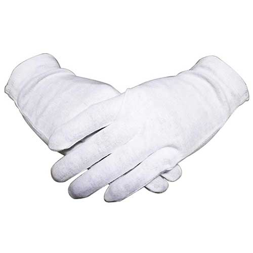 Best Moisturizing Gloves for Dry Hands 9. White Thin 100% Organic Cotton Gloves for Women Dry Hands Eczema 12 Pairs Night-Sleeping Lotion Spa Gloves