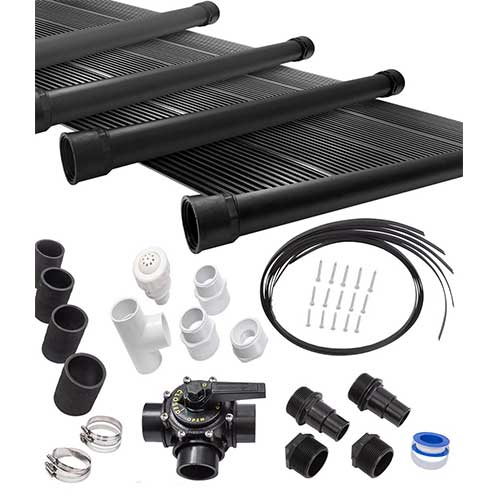 Best Solar Heater for Above Ground Pool 1. SunQuest 4-2X12 Solar Swimming Pool Heater Complete System with Roof Kits