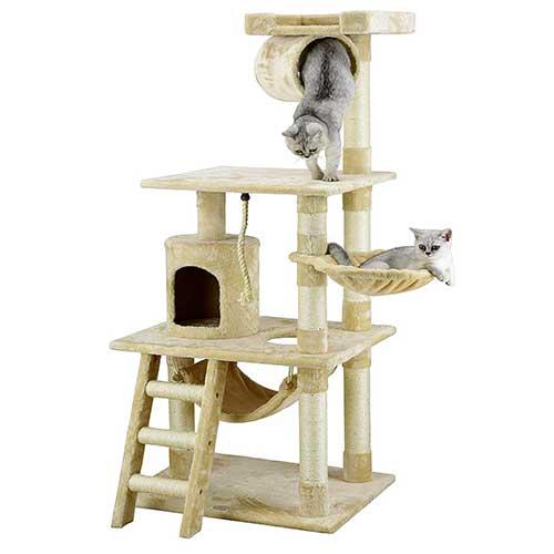 1. Go Pet Club 62-Inch Cat Tree