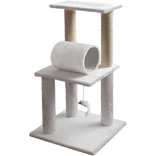 8. Cat Tree Condo Tower Post for Indoor Cats - Kitty House Furniture Trees and Towers Paws & Pals