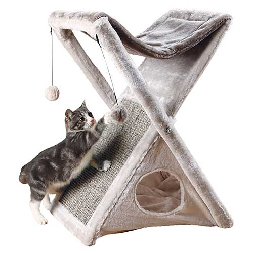 3. TRIXIE Pet Products Miguel Fold and Store Cat Tower