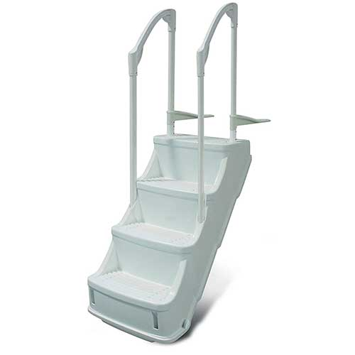 Best Above Ground Pool Steps 6. Champlain Plastics Drop-in Step/Ladder for Above Ground Pool (Drop in Step)
