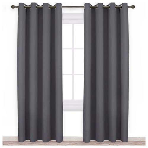 2. NICETOWN Blackout Curtains Panels for Bedroom - 3 Pass Microfiber Noise Reducing Thermal Insulated
